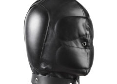 Padded Leather Hood - SmallMedium