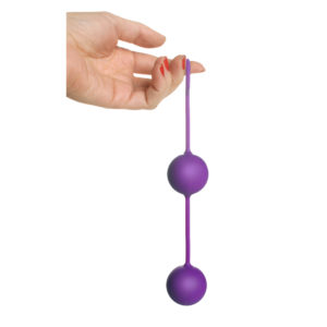 Twin Silicone BenWa Beads - Purple