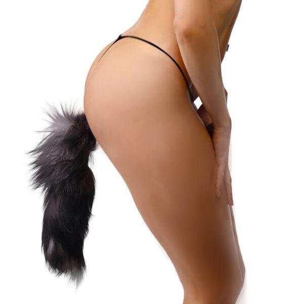 Grey Fox Tail Anal Plug