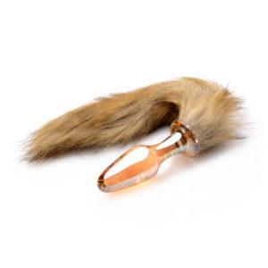 Fox Tail Glass Anal Plug
