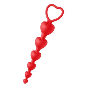 Sweet Heart Silicone Anal Beads