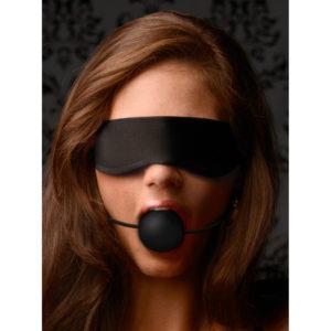 Lightweight Fleece Blindfold with Ball Gag