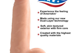 6 Inch Ultra Real Dual Layer Suction Cup Dildo