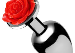 Red Rose Anal Plug- Small