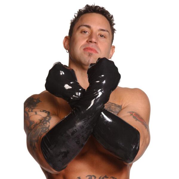 Mens Large Elbow-Length Gloves