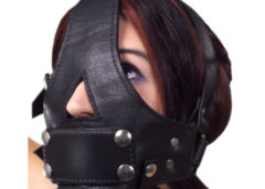 Strict Leather Bishop Head Harness with Removable Gag