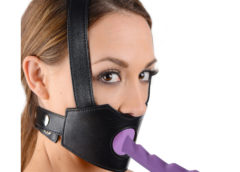 Strict Leather Dildo Face Harness