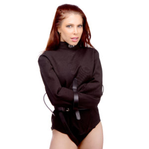 Strict Leather Black Canvas Straitjacket- X-Large