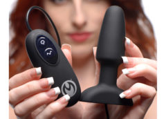 Popper Plug 7x Rechargeable Vibrating Silicone Anal Plug- Small