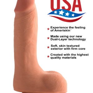 7 Inch Ultra Real Dual Layer Suction Cup Dildo- Medium Skin Tone