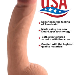 10 Inch Ultra Real Dual Layer Suction Cup Dildo- Medium Skin Tone