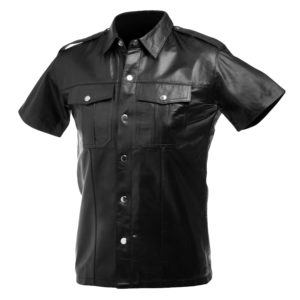 Lambskin Leather Police Shirt - XL