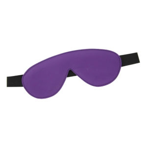 Blindfold Padded Leather - Purple and Black